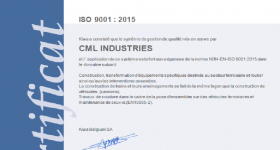 Certification CML Industries ISO 9001