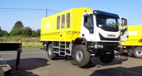 Camion Iveco rail route hydrostatique
